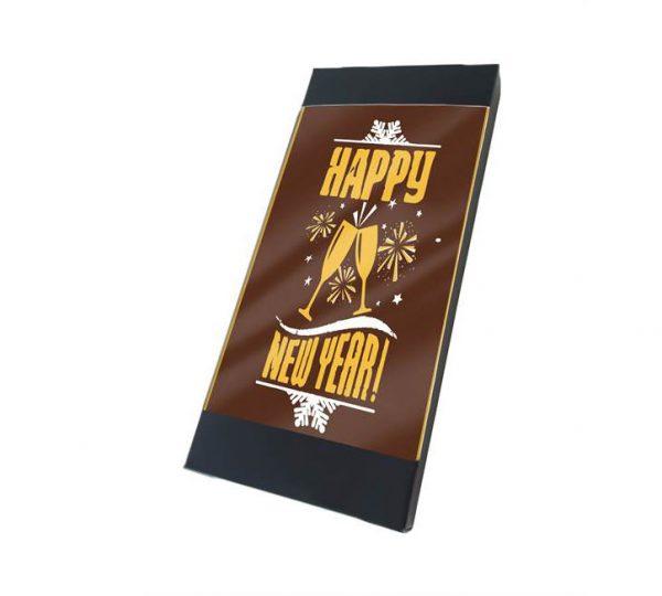 Chocolade mini kaart nieuwjaar