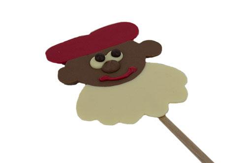 Chocolade piet op stokje