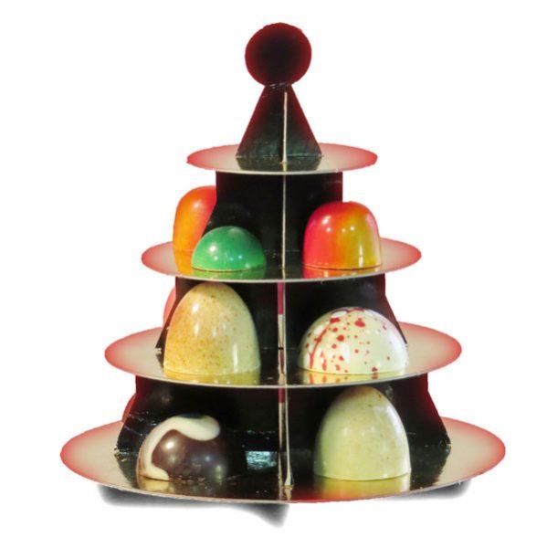 Kerstboom met luxe chocolade