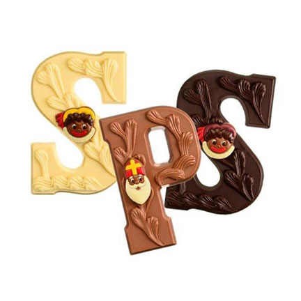 Luxe chocoladeletter Sint
