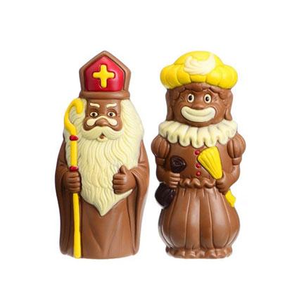 Sint en piet figuur chocolade 28cm
