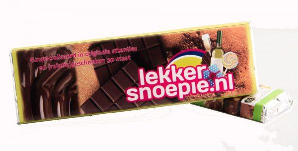 Gepersonaliseerde wikkel chocolade reep