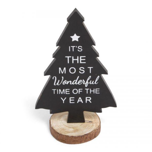 Kerstboom decoratie donker bruin