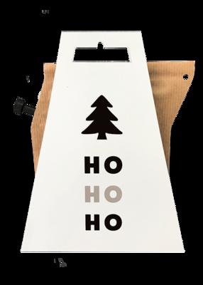 Kerstkaart met koffie hohoho