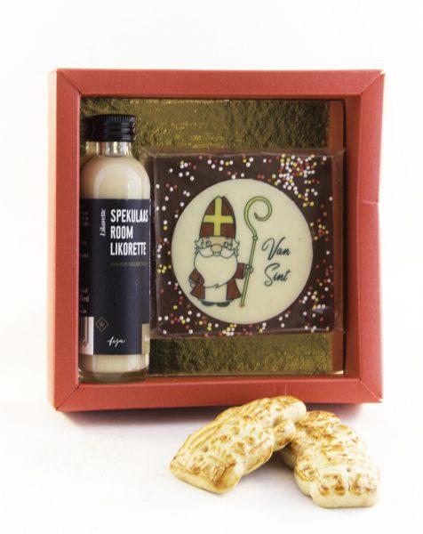 Speculaas likeur en chocolade Sinterklaas