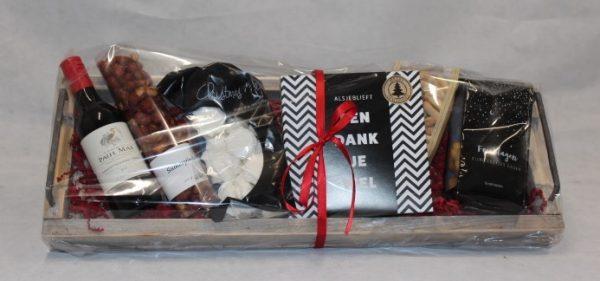 Een dankjewel serveerplank Kerstpakket