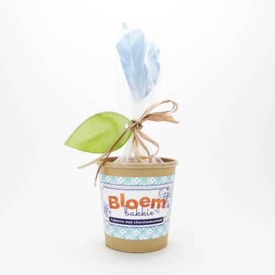 Bloempot cakemix chocolade