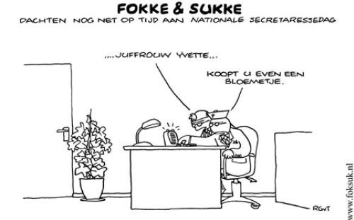 Nationale secretaresse dag Fokke en Sukke