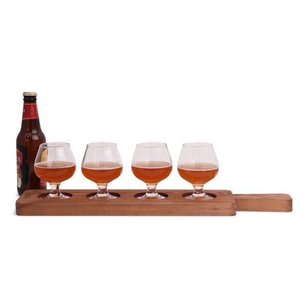 Borrelplankje voor 4 glazen