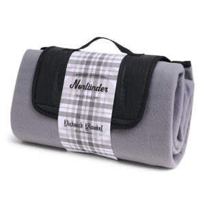 Fleece deken grijs