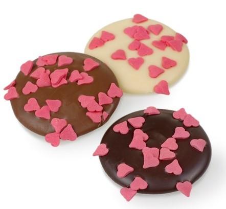 Chocolade met hartjes