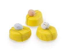 Gele paasbonbons