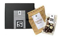 Chocolade kruidnoten en coffeebrewer geschenkdoosje