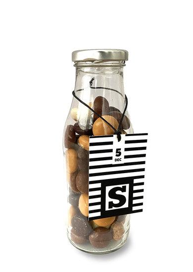 Chocolade kruidnoten in flesverpakking