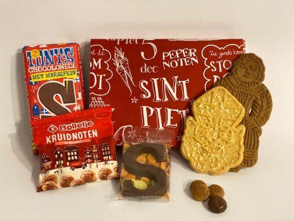 Geschenkdoosje rood Sint en Piet