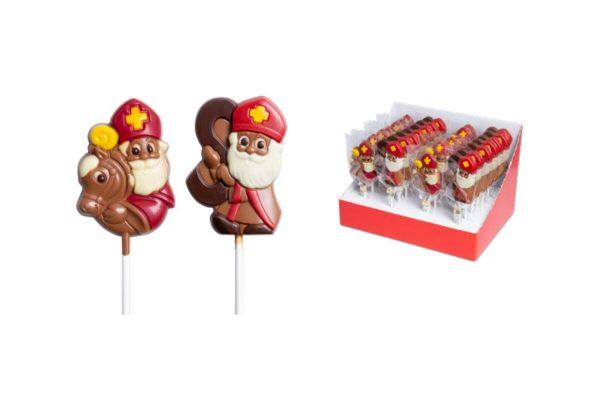 Sint choco lolly display 28 stuks